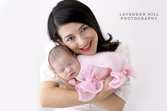 Best Newborn Baby Photography with mother in London