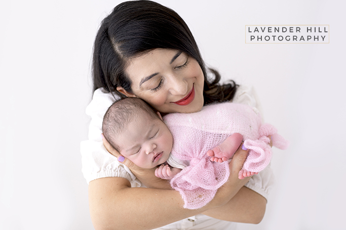 Newborn Baby Photography with mother