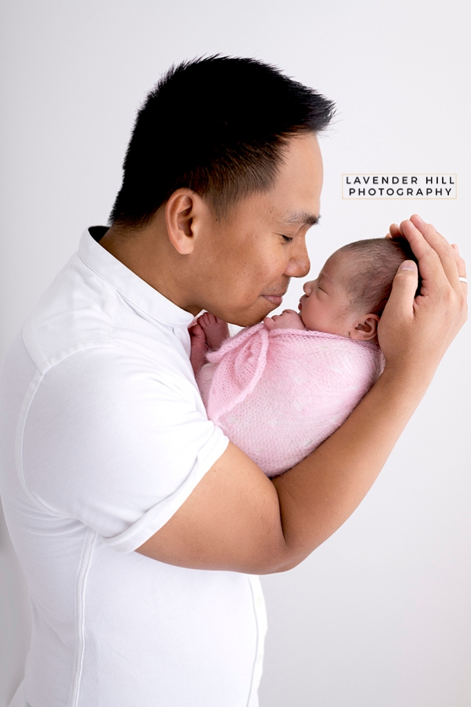 Newborn Baby Photography with father