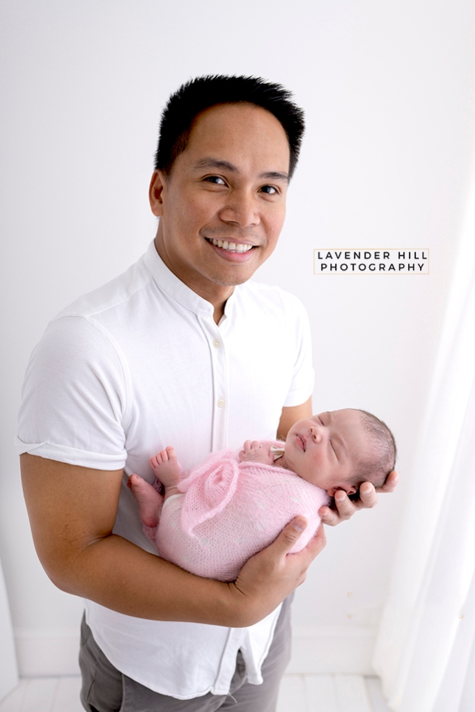 Father with Newborn Baby Photography